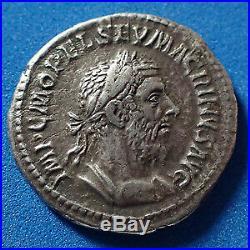 MACRINUS, MACRIN, denier Rome en 217, FIDES MILITUM, 20mm, 3,82 grms, RIC. 67 TTB