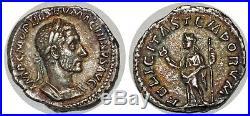 MACRIN Denier FELICITAS TEMPORVM +217 ROME C. 19