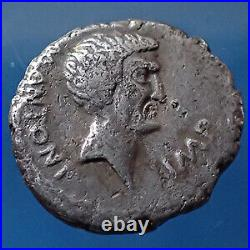 MARCUS ANTONIUS, MARC ANTOINE, denier Epire En 42 avant JC, temple DE Sol 16-1
