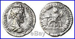 MARCUS AURELIUS MARC AURELE (139-180) denier 180 Rome
