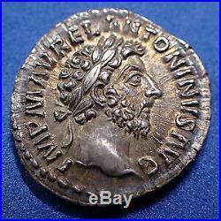 MARCUS AURELIUS, MARC AURELE, denier Rome en 161-162, COS III / CONCORD AVG TR P