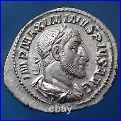 MAXIMINUS Thrax, MAXIMIN I le Thrace, denier Rome en 236, Salus Augusti, 19-20mm