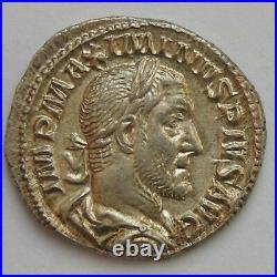 MAXIMIN I, MAXIMINUS I, Denier, PROVIDENTIA AVG, SUP Empire Romain MAXIMINUS I