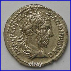Macrin, Macrinus, Denier, P M TR P II COS P P, TTB+/SUP Empire Romain MACRIN 2