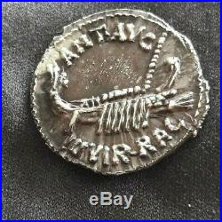 Magnifique Denier argent Marc Antoine Leg IIII (2eme Type). 32-31