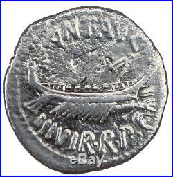 Marc Antoine, Denier des Légions, Leg VII, TTB+, Roman ancient silver coin