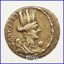 Monnaie Denier république romaine M. Plaetorius