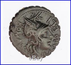 Monnaie, République Romaine, Denier serratus, Aurelia, Argent, 118 Ac, Narbonne