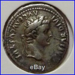 Monnaie Romaine Denier Tibère Argent Gaule Lyon