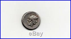 Monnaie Romaine MARCIA Lucius marcius Rome Denier d'argent 82/81 avant J. C. TTB