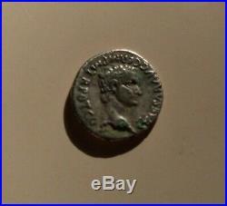 Monnaie Romaine Rare Authentique Denier De Caligula et Auguste