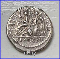 Monnaie république romaine NONIA Denier TTB