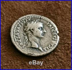 Monnaie romaine, Argent rare denier de Tibere / roman coin rare Tibere denarii