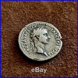 Monnaie romaine, DENIER de Tibere, argent / roman coin, rare silver denari
