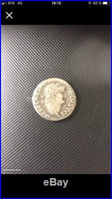 Monnaie romaine Denier Argent Neron Caesar