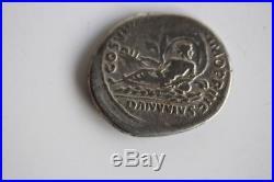 Monnaie romaine TRAJAN denier argent Le Danube (36561)
