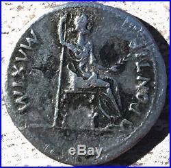 Monnaie romaine, Tibère, Denier, Lyon Lugdunum, TTB, Argent