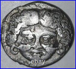 Monnaies Antiques, Denier Plautia à Tête de Méduse, Rome 47AC