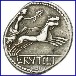 Monnaies antiques, Rutilia, Denier, Rome, TTB, Argent, Crawford387/1 #508704