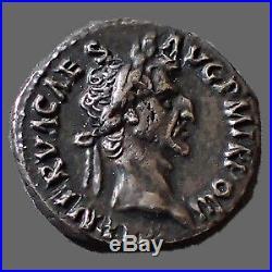 NERVA, denier Rome en 97, très beau style de portrait! , COS III PATER PATRIAE, 1