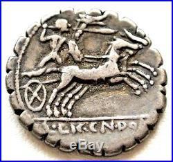 N°10 Cosconia (118) Denier. Seratus. L. Cosco Mf X / L. Lic. Cn. Dom (r2)
