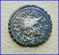 N°1 République romaine. POMPONIA Denier serratus. Narbonne
