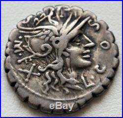 N°54 Cosconia (118) Denier. Seratus. L. Cosco Mf X / L. Lic. Cn. Dom (r2)