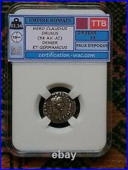 Nero Claudius Drusus (38 Av. Jc.) Denier Et Germanicus Faux D'epoque
