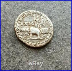 Neron Et Aggrippine Denier Lyon Quadrige Éléphant 2,79gr