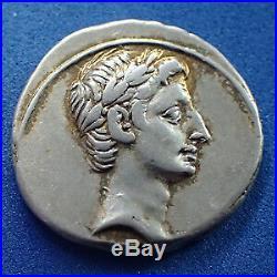 OCTAVE, OCTAVIAN, OCTAVIANUS, denier Rome ou Italy vers 29 avant JC, IMP CAESAR