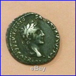 Octave Auguste, Caius et Lucius Denier (-2 à 4, Lyon) poids 3gr52 RARE