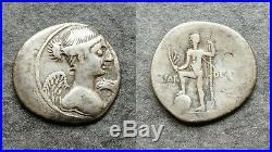 Octave Denier Caesar Divus Octavius Neptune Auguste Augustus Argent