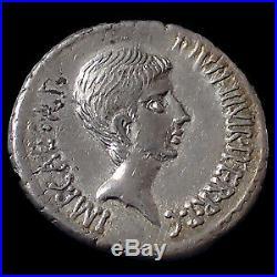 Octave, Octavius, Octavian, denier atelier indéterminé (Italie) vers 37 avant