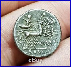PAPIRIA Superbe Denier En Argent Denarius République Romaine