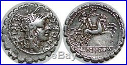 PORCIA Denier serratus L. LIC. CN. DOM -118 ROME RCV 158