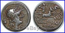 POSTUMIA Denier L. POST ALB -131 ROME RCV. 128