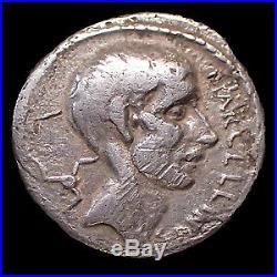 P. CORNELIUS LENTULUS MARCELLINUS, denier Rome en 50 avant JC, Marcellinus plaçan