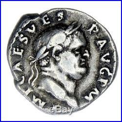 Pn5501 Empire Romain Rare Denier En Argent Vespasien Vespasianvs