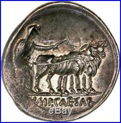 #R187 République Romaine, Octave, Denier en argent, Rome Auguste
