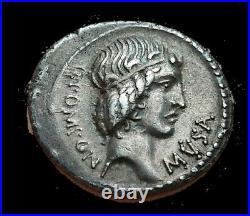 RARE! Denier République romaine POMPONIA MUSA Pomponius musa Hercules