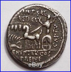 REPUBLIQUE ROMAINE DENIER DE M. AEMILIUS SCAURUS & P. PLAUTIUS HYPSAEUS 58. Av