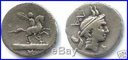 REPUBLIQUE ROMAINE L. MARCIUS PHILIPPUS (113/112 Av. J. C) DENIER RARE