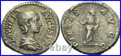 ROM Kaiser Plautilla, 202 211 Denier 203 Pietà Sceptre Argent #103