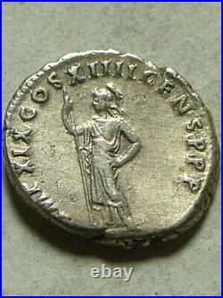 Rare Ancien Romain Pièce Argent Domitien 88 Ad Denier D'Argent Athena Minerva