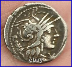 Rare! ROME Denier Argent CNEIUS FULVIUS-MARCUS CALIDIUS-QUINTUS METELLUS TTB