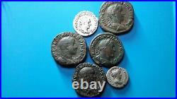 Rare et superbe lot de monnaies romaines sesterces denier antoniniens