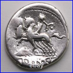 Rép. Romaine Denier Quinctia, Hercule 112 av. JC, Rome B#6 RCV#174