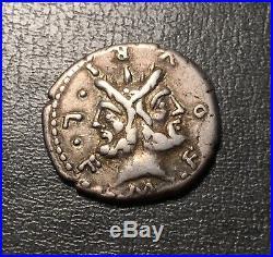 République, Furia, M. Furius Philus, Denier, 119 av. J. C, RRC. 281 /1