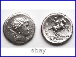République Romaine Denier, BEAU! Crepusia 82 av. JC, Rome RCV#283 RSC#1