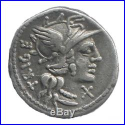 République Romaine Denier Curiata 142 av. J. C